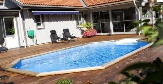 Rektangulär pool från Folkpool