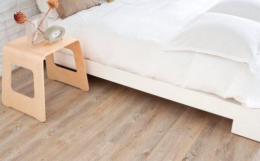Korkgolv från Golvabia i sovrummet