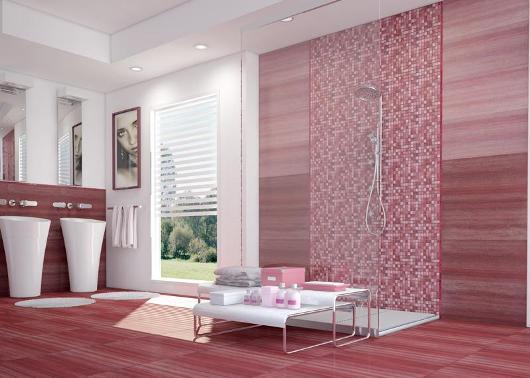 Läckert designat badrum från Inter kakel
