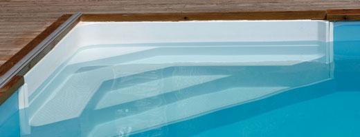 Hörntrappa för pool från Miamipool