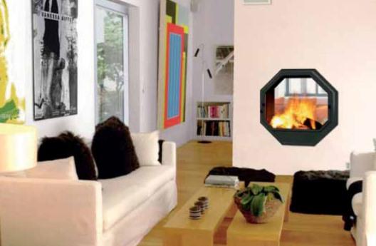 Inbyggnadsbar designkamin från Oscis