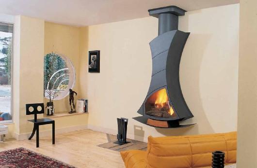 Designad kamin från Oscis