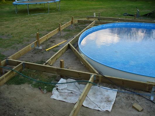 Bygga ny pool
