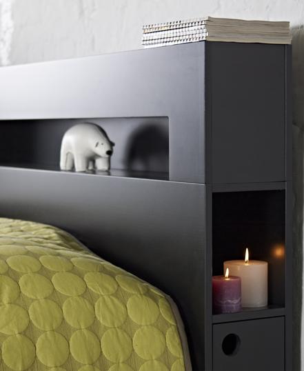 Sänggavel med inbyggd förvaring från Zebra Collection
