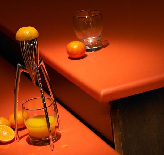 Höstlik orange bänkskiva i kvarts från Silestone