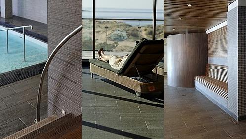 Svenska kakel har levererat stengolv till Spa hotellet i Tylösand. Vackra och rogivande kombinationer till en vacker miljö.