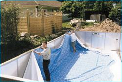 att bygga pool