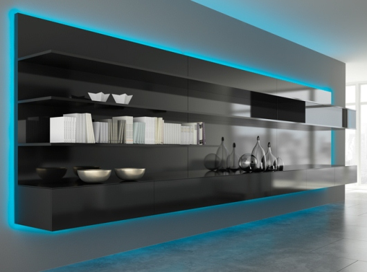 Effektfull design med belysning i köket