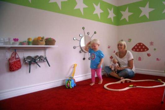 Barnrum med härlig heltäckningmatta från Golvabia