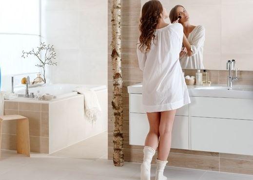 Träinspirerat badrum från Ifö