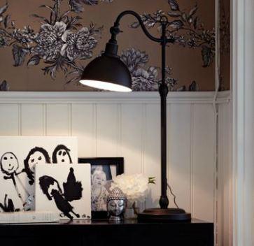 Sovrumslampa i lantlig stil från Markslöjd