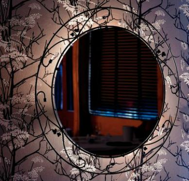 Vägglampa med inbyggd spegel, från Markslöjd