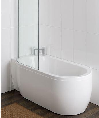 hörnbadkar med duschvägg