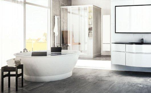 Massagebadkar i ett badrum från Svedbergs
