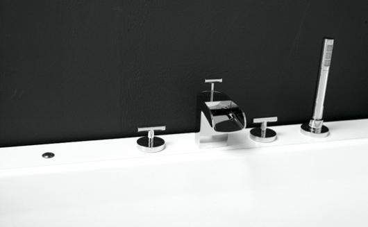 Badrumsrenovering, renovera badrum och Sargmonterade blandare, Love Me, från Svedbergs