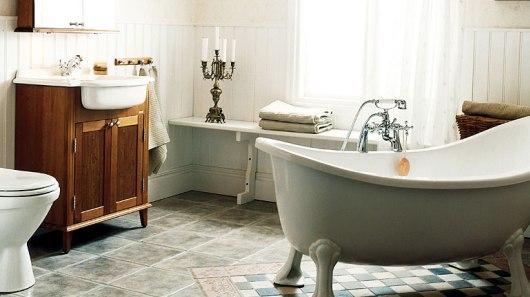 Romantiska badrum i lantlig stil för alla som gillar romantik