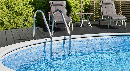 Bygga ny pool och pooltrappor