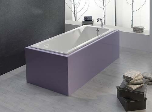 Härligt med ljusinsläpp till duobads badkar